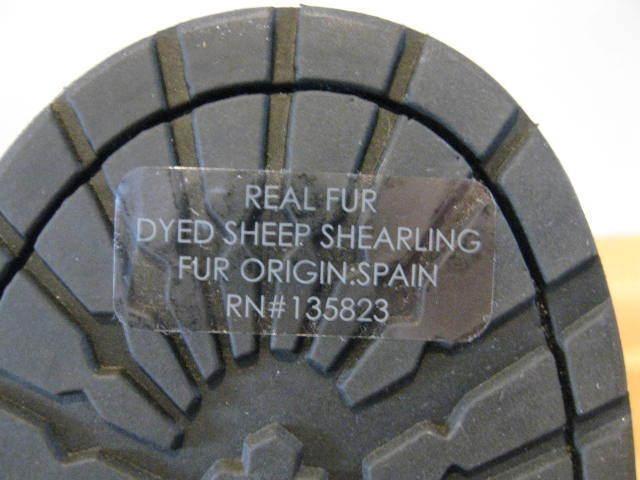 NEW    495 VIA SPIGA KAYA GENUINE SHEARLING FUR TRIM schwarz LEATHER Stiefel 6 8a7a1b