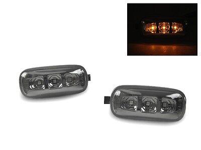 DEPO Smoke Amber LED Fender Side Marker Lights For Audi A4 S4 B6 B7 A6 C5 A8 D3