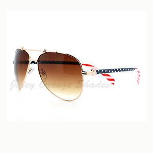 USA-American-Flag-Patriotic-Unisex-Aviator-Sunglasses-UV-Protection