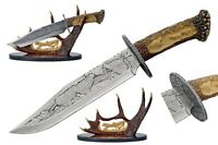 15 Wolf Bowie Knife With Antler Display Father's Day Gift Hunter Collection