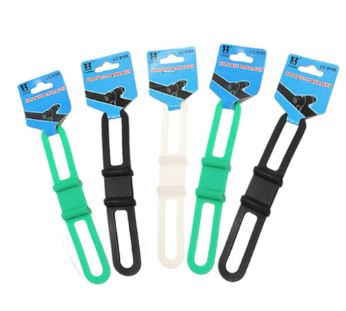 2pcs Bicycle Strentch Silicone Rubber Band Light Holder Tube Mount Strap Belt ME