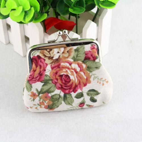 Women/'s Small Wallet Bags Retro Flower Coin Change Purse Clutch Keys Mini Pouch