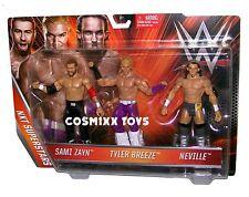 WWE WRESTLING NXT SUPERSTARS 3 PK SERIES SAMI ZAYN TYLER BREEZE NEVILLE MATTEL
