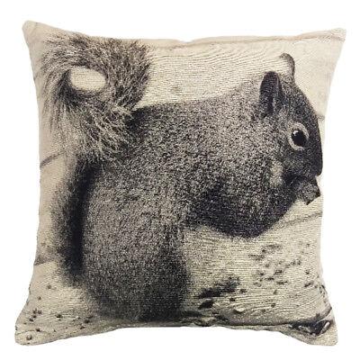 Divine By Design Squirrel Photographic Print Cushion Cover, Mono, 43 x 43 Cm