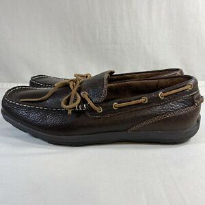 L-L-BEAN-Grand-Lake-Leather-Moc-Slip-On-Brown-Men-039-s-Size-11-5M