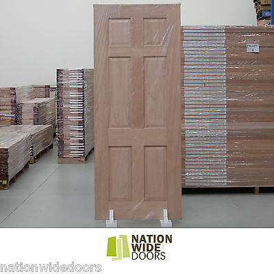 6 Panel Traditional Engineered French Solid Timber Doors Meranti Hardwood