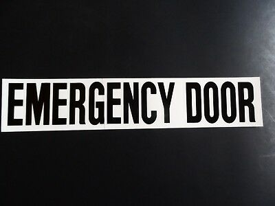 Van Transit Daycare Bus Quot Emergency Door Quot Black Clear