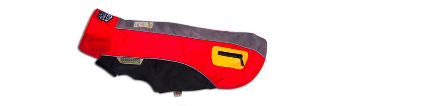 Karli Touchdog Outdoormantel, Hundemantel, Größe M Rot   | Verwendet in der Haltbarkeit
