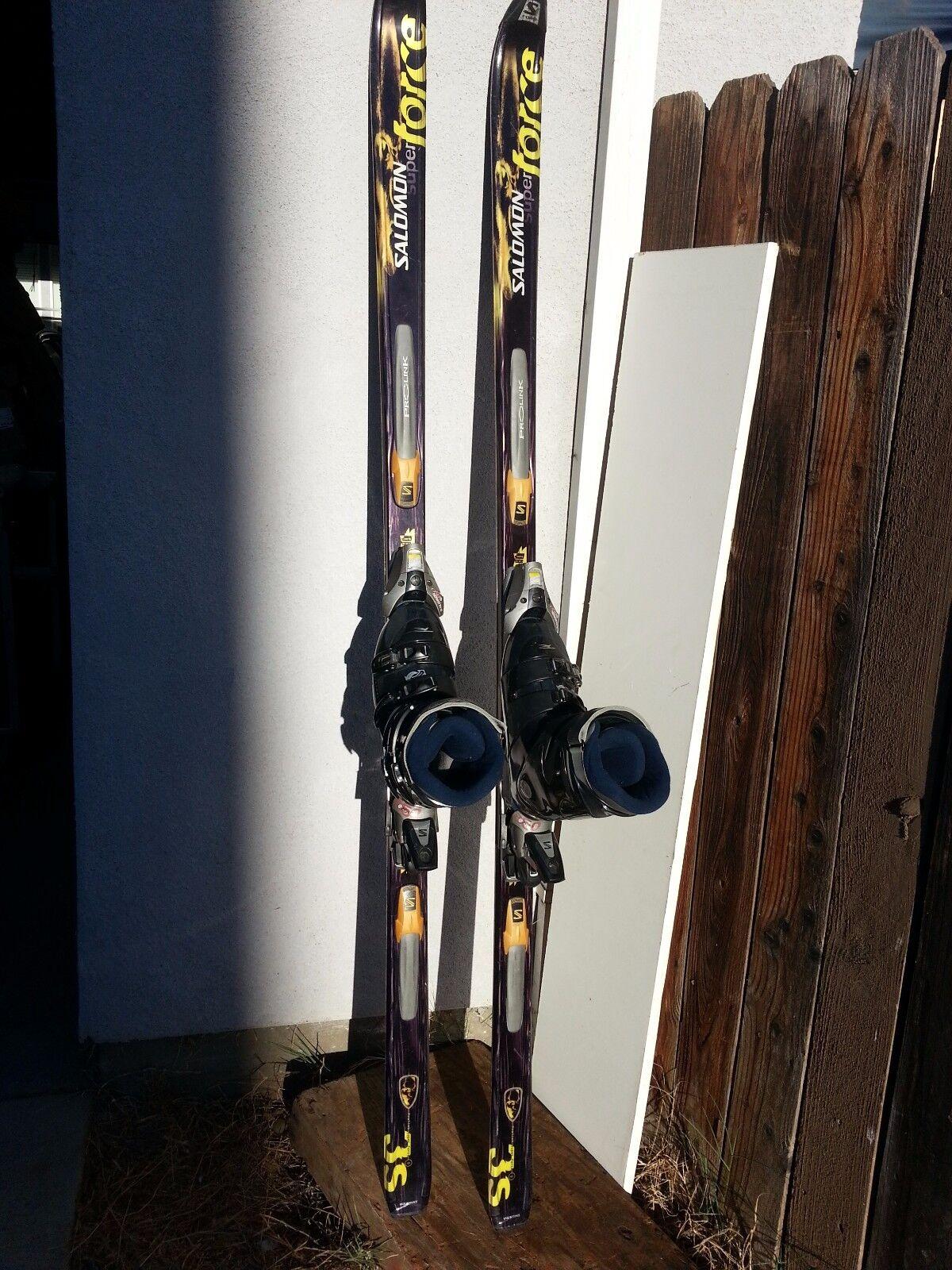 Salomon Prolink Skis PR7 190cm 850 Bindings 26.5 Mondo, 8.5  Men 9.5 Women US  100% free shipping