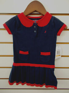 18 M Infant Girls Nautica $36.50 Gray Sweater Dress w// Bloomers Size 12 Months