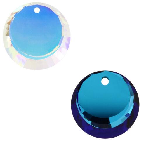 Genuine SWAROVSKI 6210 Round Crystals Pendants 17mm Crystal AB Color