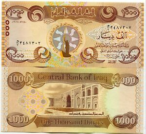 Details About 1000 New Iraqi Dinars 2018 With Security Features Iraq Dinar Unc Banknote