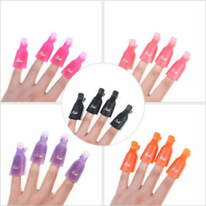 10PCS-Stylish-Plastic-Nail-Art-Soak-Off-UV-Gel-Polish-Remover-Wrap-Tool-Clip-Cap