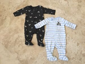 3f3ab0ac7 NEW Carters Just One You Baby Boy Footed All In One Puppy Pajamas ...