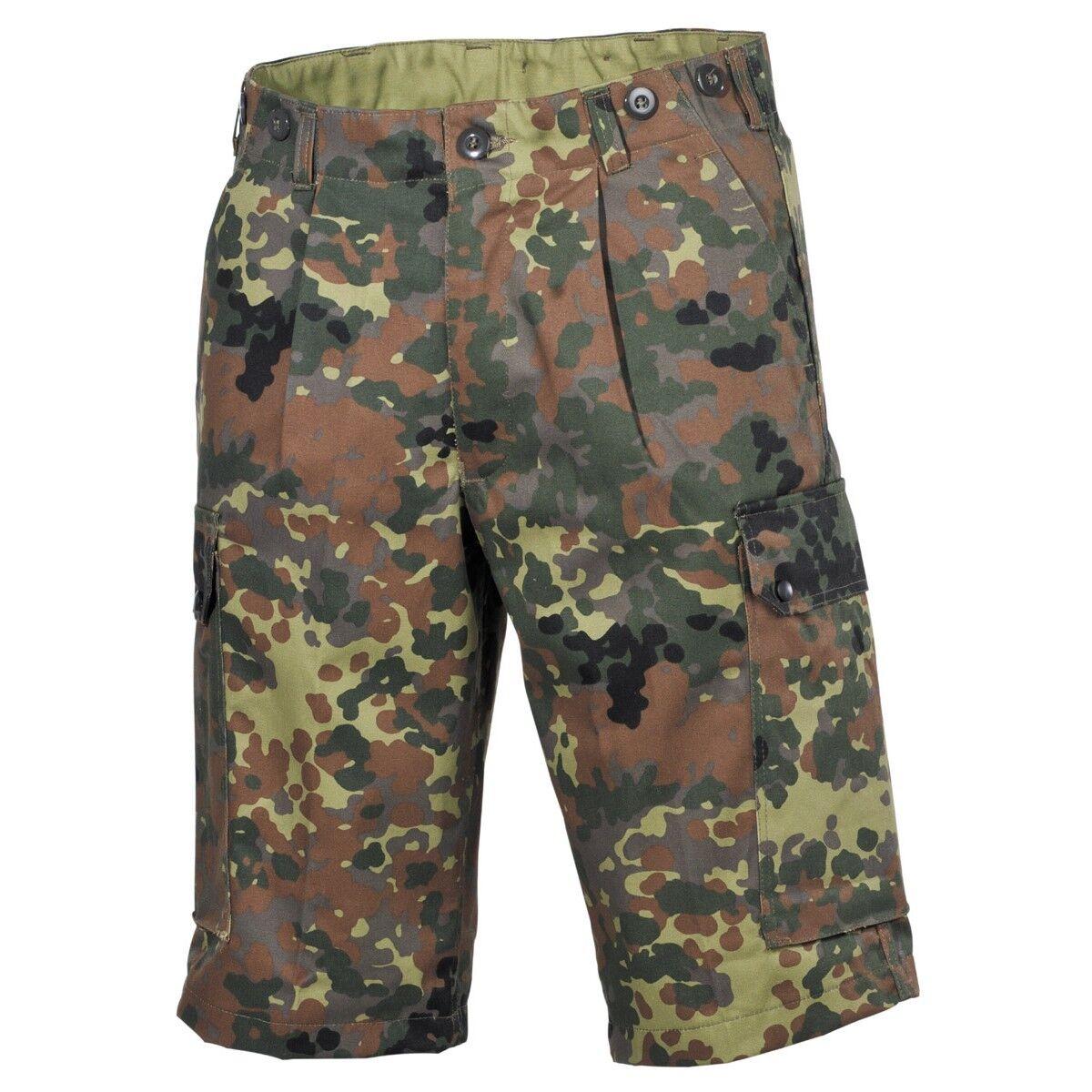 MFH Pantalones cortos Bermudas hombre militar campamento caza pesca BW Camo