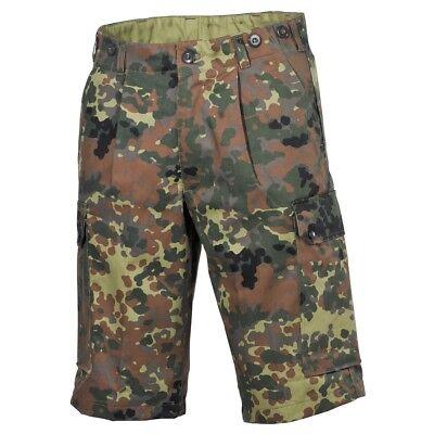 Mfh Pantaloni Pantaloncini Bermuda Uomo Militare Campeggio Caccia Pesca Bw Camo