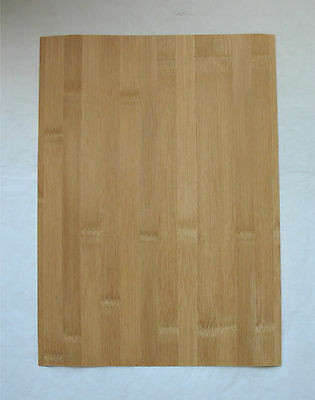 "Bamboo Veneer 1/40"" Thick x ~10-1/4"" Wide ~12"" Long Thin Backed Craft Inlay Wood"