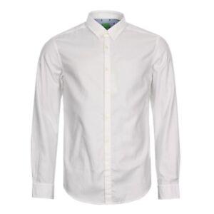 NUOVO-DA-UOMO-BOSS-Green-c-buster-Camicia-bianco-manica-lunga-con-colletto