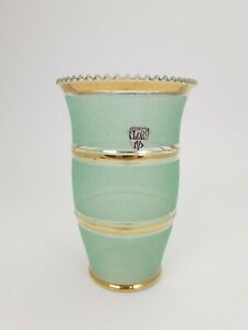 Antique-Art-Deco-Belgian-Doyen-Green-Glass-Vase