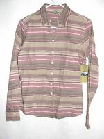 Women's Shaver Lake Long Sleeve Mauve Striped Tailored Blouse - Size Small -