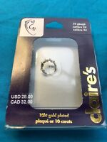 Claires 10 Karat Gold Plated 24 Gauge Earring In Package