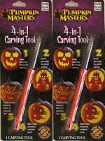 Lot Of 2 , Pumpkin Masters 4-in-1 Carving Tool Halloween American's Favorite