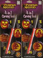 Lot Of 2 , Pumpkin Masters 4-in-1 Carving Tool Halloween American's Favorite