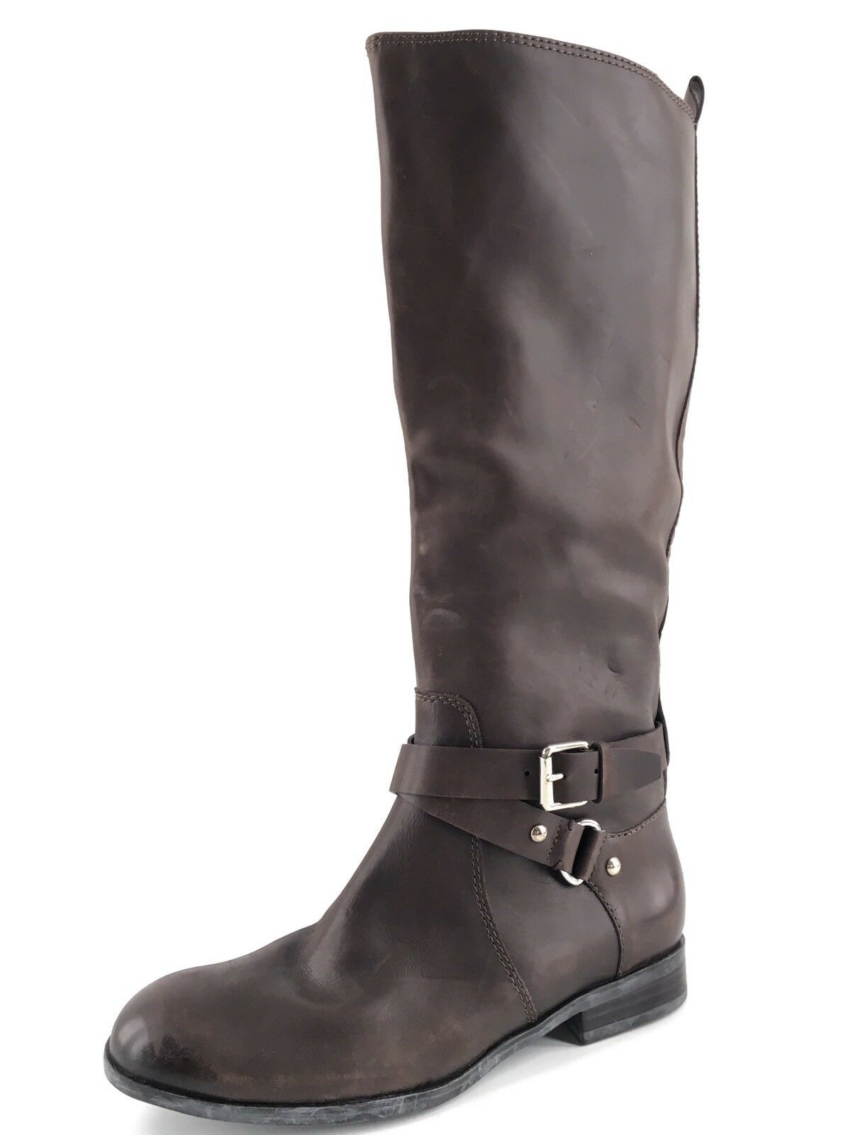Enzo Angiolini Daniana Brown Leather Knee High Boots Womens Size 7.5 M*