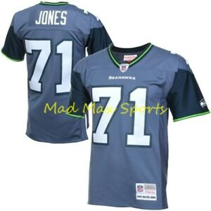 pretty nice fd41a 3f24b Details about WALTER JONES Seattle SEAHAWKS MITCHELL AND NESS Throwback  PREMIER Jersey S-XXL