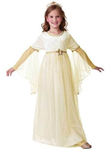Child 3-10 Years Ivory Angel Fairy Christmas Outfit Fancy Dress Girls Costume