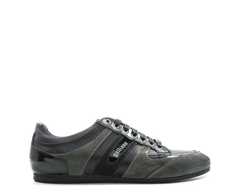 shoes GALLIANO men Sneakers trendy  black Pelle naturale G9063SUEDEGN