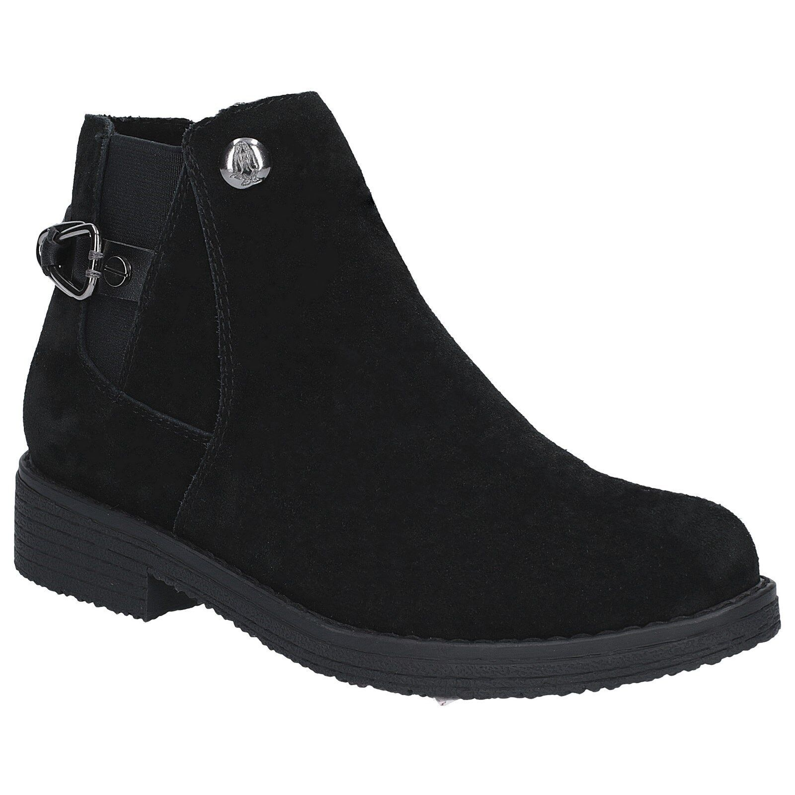Hush Puppies Alaska Chelsea Boots Womens Water Resistant Suede Faux Fur Ankle
