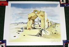Salvador DALI Paranoic Village Surrealist Signed Litho Art Print POSTER 23X17.5