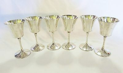 Vintage silver plated wine goblet cups made in italy set of 6
