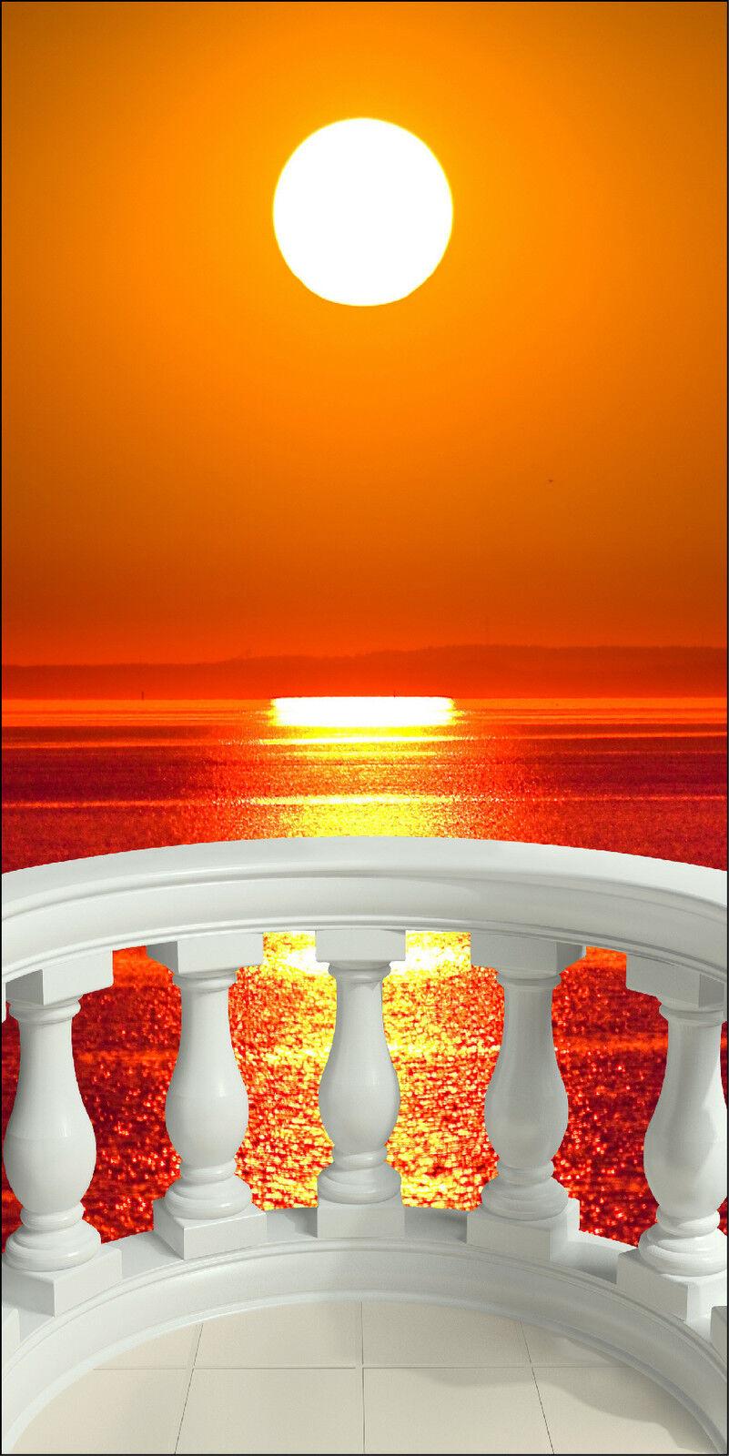Aufkleber Schein Auge Deko -untergang Sonne ref 1528