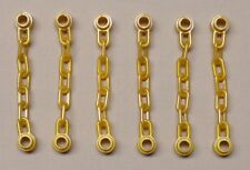 x6 NEW Lego Minifig Chain 5 Link Chains Perl Gold