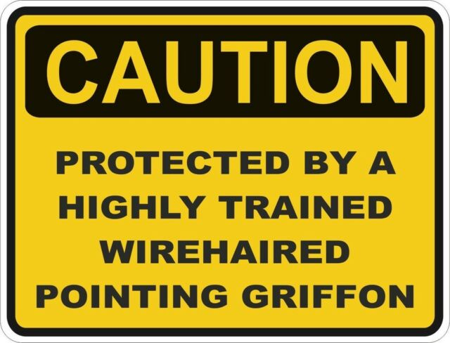 "Caution Protected By Trained Doberman Sign Car Bumper Sticker Decal 5/"" x 4/"""