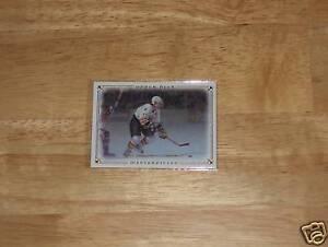 IJshockey 2008-09 UD Legends Masterpieces Hockey #48 Ray Bourque Boston Bruins