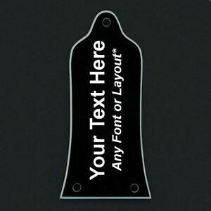 Guitar-Truss-Rod-Cover-personnalise-grave-pour-EPIPHONE-Texte-Personnalise-Noir