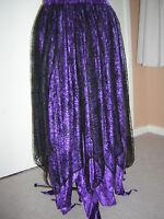 purple black cobweb velvet  skirt custom made10 12 14 16 18 20 22 24 26 28 30 32