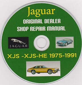 jaguar xjs 1975 1991 original factory service repair shop rh ebay com jaguar xjs owners manual jaguar xjs v12 service manual