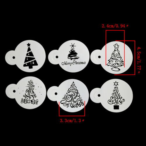 decoración de Navidad de llamadas Conjunto de 4-Plantillas Redonda 11 CM Decoupage-C036 chatarra de reserva