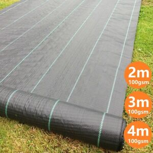 1m-4m Wide Heavy Duty Weed Membrane Weed Control Fabric Ground Cover Mat 100GSM