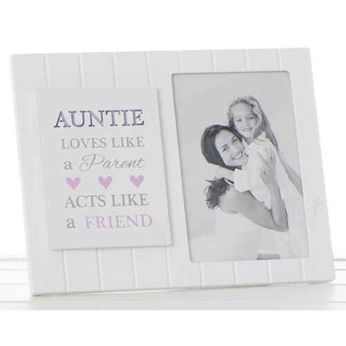 Madison Sentiment Frame Auntie Family Friend White Photo Picture Gift Novelty
