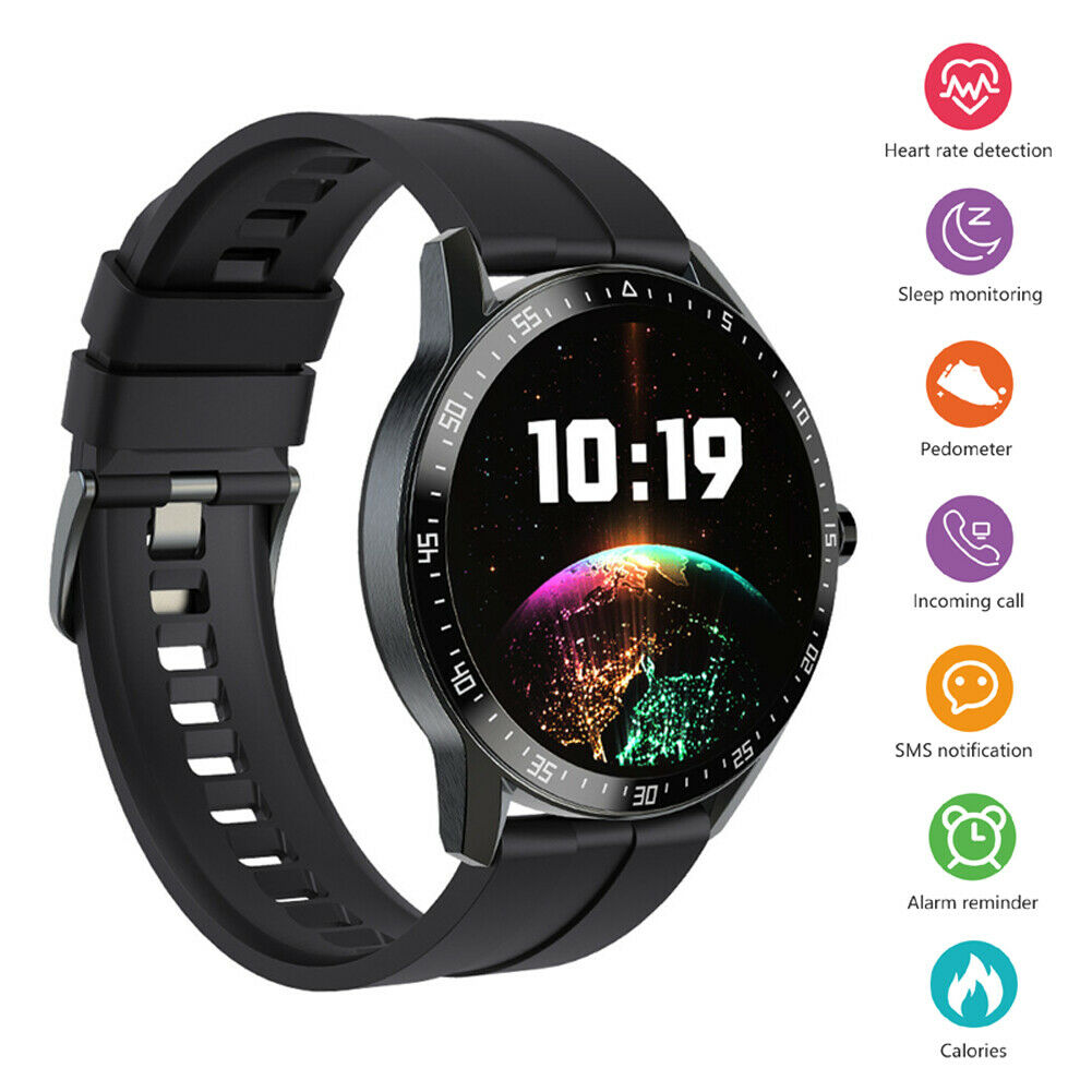 Heart Rate Bluetooth Smart Watch Sports Fitness Tracker for Android iOS iPhone