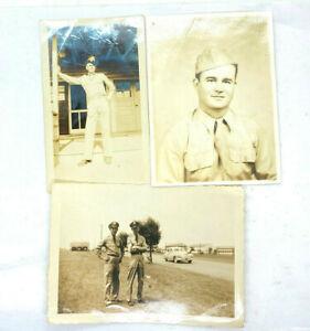 Lot of 3 Vintage Photographs Photos Airmen Uniform Air Force Barracks Airman