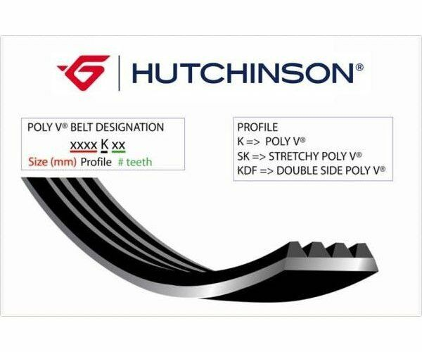 HUTCHINSON V-Ribbed Belts Poly-V 1705 K 6