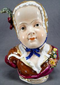 Rare-Carl-Thieme-Dresden-Hand-Painted-9-Inch-Tall-Cherubic-Female-Child-Bust