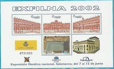 Spanien Aus 2002 ** Postfrisch Block 106 Minr.3751-3754 Exfilna! Architektur