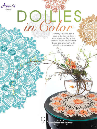 Doilies in Color Crochet Patterns Instructions Annie's Attic Book Florals NEW